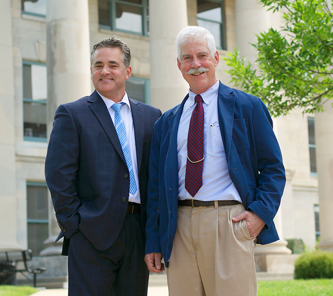 Attorneys Brian Sleeth and Jim Rutter, partners at Rutter and Sleeth Law Offices